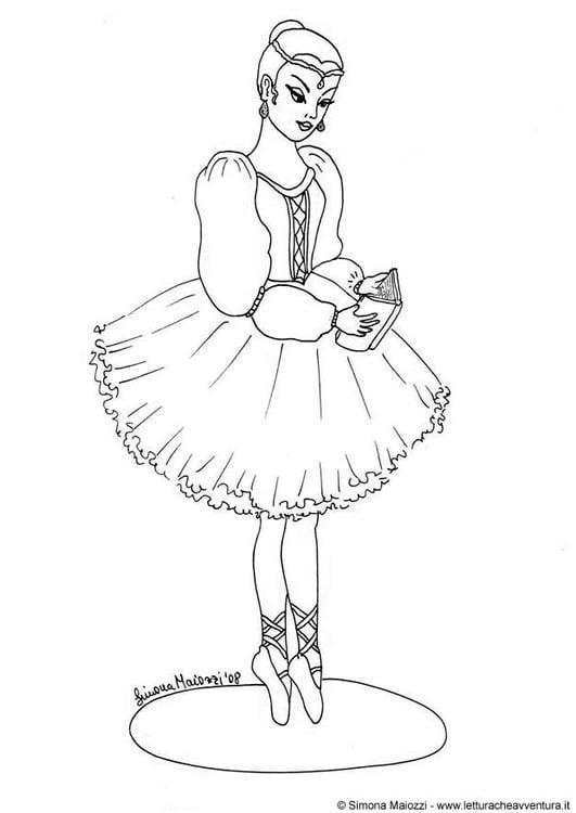 Disegno Da Colorare Ballerina Cat 12348