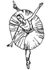 Disegno da colorare ballerina