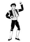 Disegno da colorare ballerino bolero