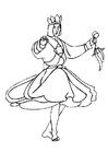 Disegno da colorare ballerino
