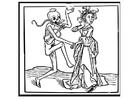 Disegno da colorare ballo con la morte