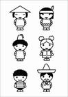 Disegno da colorare bambini - culture