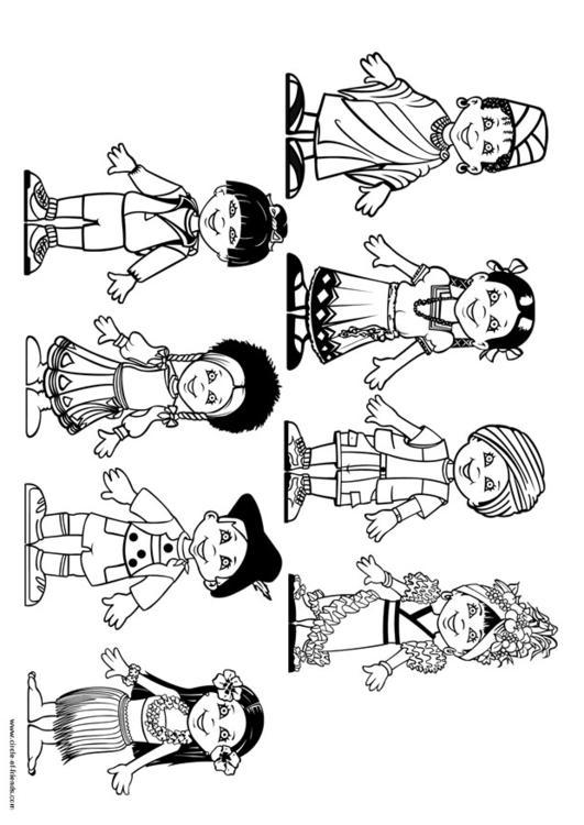 Disegno Da Colorare Bambini Del Mondo Cat 10987 Images