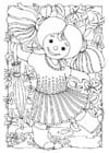 Disegno da colorare bambola - bimba