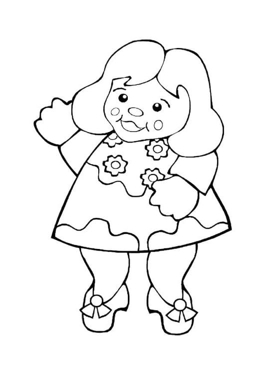 Disegno Da Colorare Bambola Cat 10603 Images