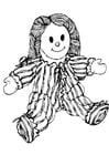 Disegno da colorare bambola