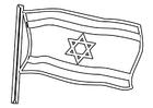 Disegno da colorare bandiera dell'Israele