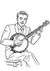 Disegno da colorare banjo