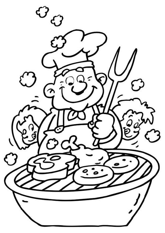 Disegno da colorare barbecue cat 6477 for Sole disegno da colorare