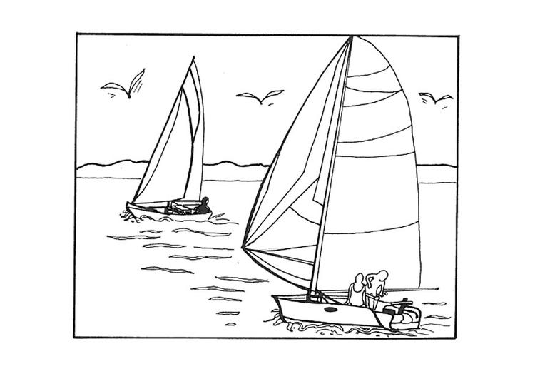 Disegno Da Colorare Barca A Vela Cat 9610