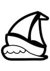 Disegno da colorare barca a vela