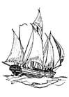 Disegno da colorare barca - nave