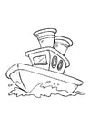 Disegno da colorare barca