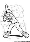 Disegno da colorare Baseball