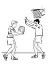 Disegno da colorare basket