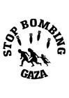 Disegno da colorare basta bombardamenti su Gaza