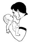 Disegno da colorare bébé