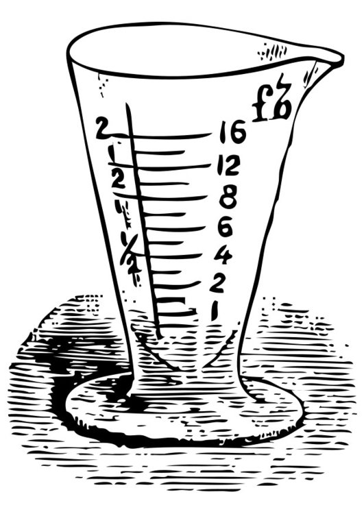 Disegno da colorare bicchiere graduato cat 28328 for Disegno vaso da colorare