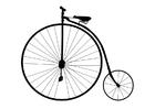 Disegno da colorare bici antica