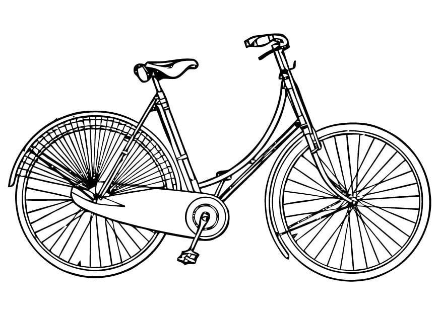 Favorito Disegno da colorare bici da donna - Cat. 16448. EX73