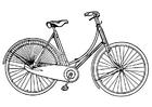 Disegno da colorare bici da donna