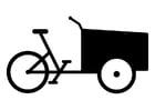 Disegno da colorare bicicletta cargo