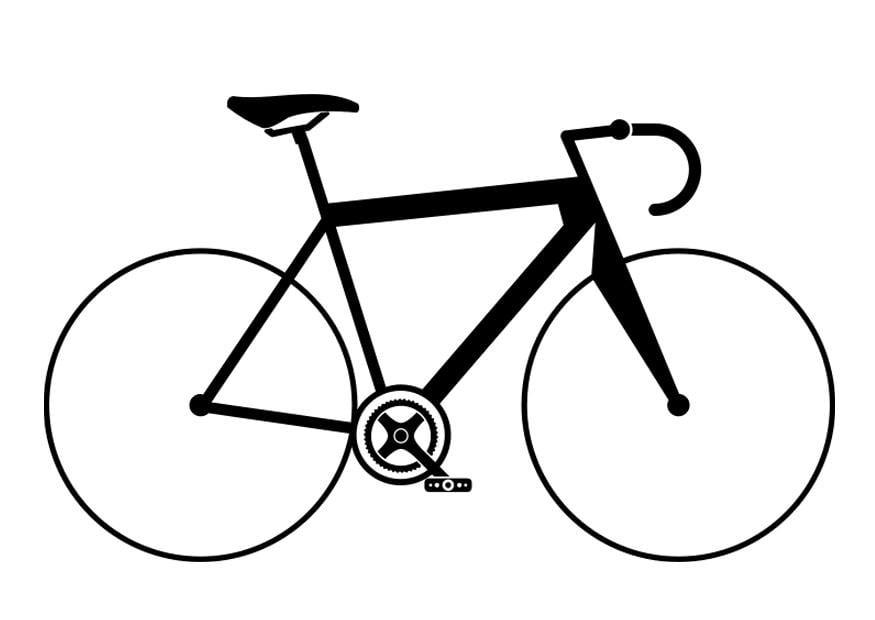 abbastanza Disegno da colorare bicicletta da corsa - Cat. 27506. FS61