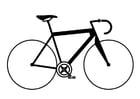 Disegno da colorare bicicletta da corsa