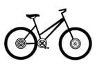 Disegno da colorare bicicletta da donna