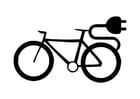 Disegno da colorare bicicletta elettrica