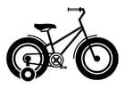Disegno da colorare bicicletta per bambini con rotelle