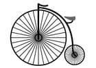 Disegno da colorare bicicletta