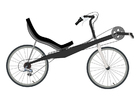 Disegno da colorare bicicletta sdraiata