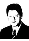 Disegno da colorare Bill Clinton