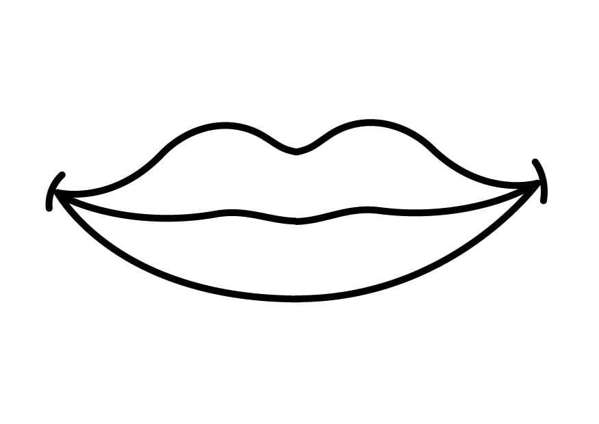 Super Disegno da colorare bocca - Cat. 26916. DL66