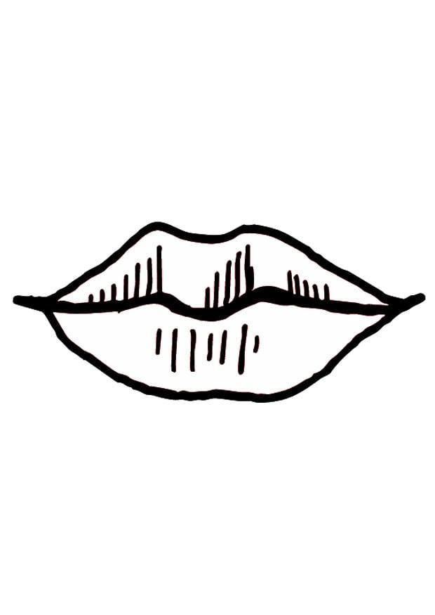 Top Disegno da colorare bocca - labbra - Cat. 9524. IT74