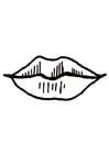 Disegno da colorare bocca - labbra