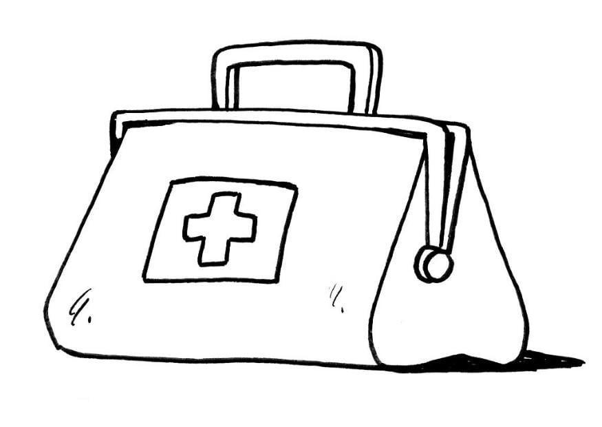 disegno da colorare borsa del medico