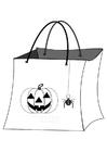 Disegno da colorare borsa di halloween