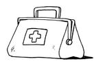 Disegno da colorare borsa medico