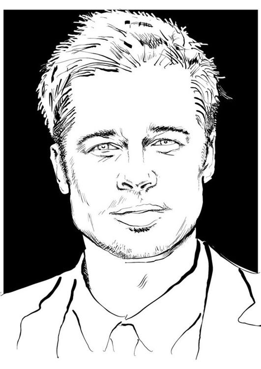 Disegno Da Colorare Brad Pitt Cat 24686