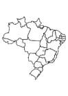 Disegno da colorare Brasile