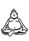 Disegno da colorare Budda