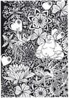Disegno da colorare buddha con drago