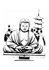 Disegno da colorare Buddha