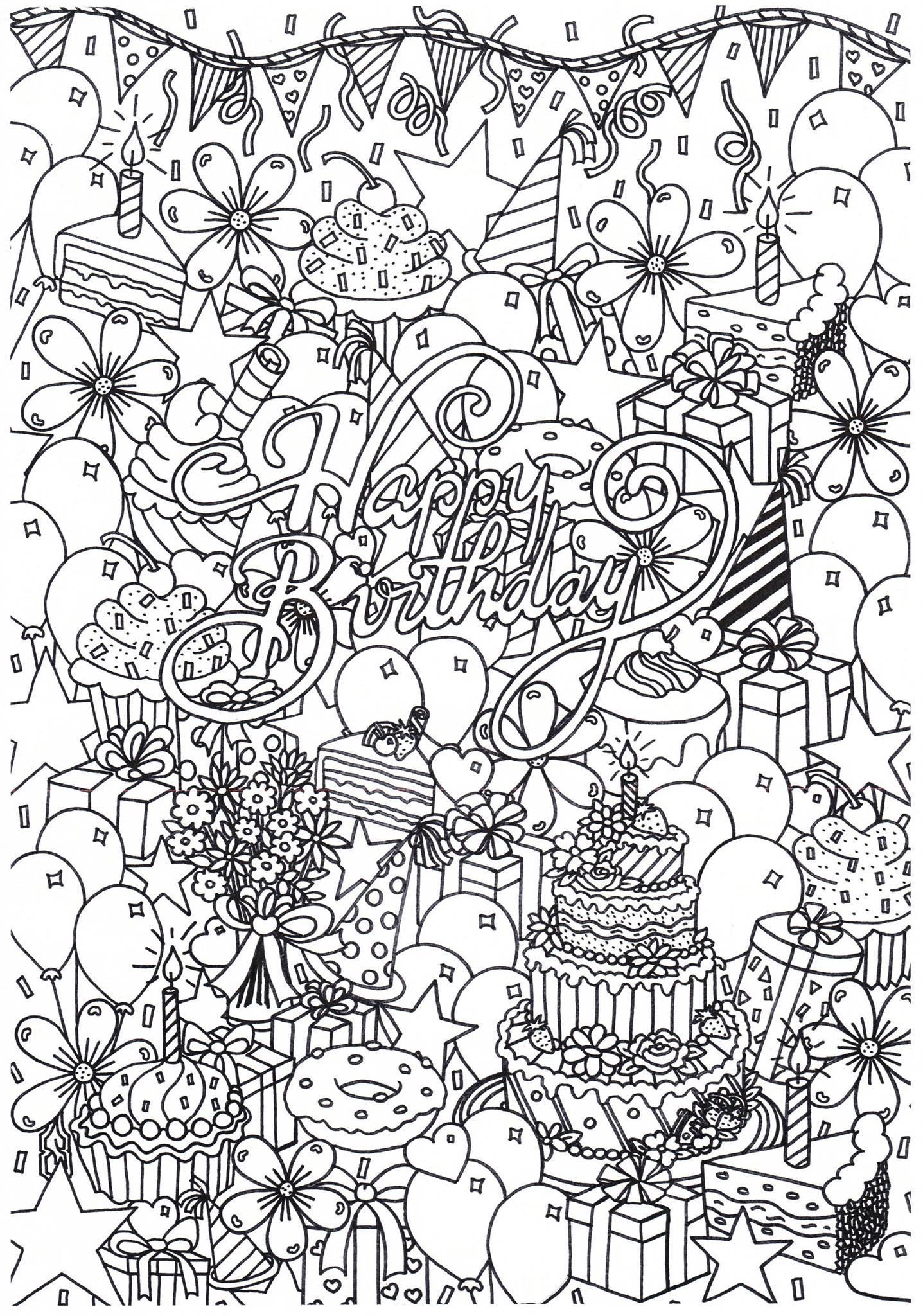 Disegno Da Colorare Buon Compleanno Disegni Da Colorare E Stampare Gratis Imm 31313