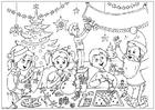 Disegno da colorare buon Natale