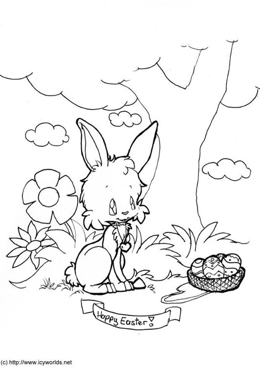 Disegno Da Colorare Buona Pasqua Cat 20925