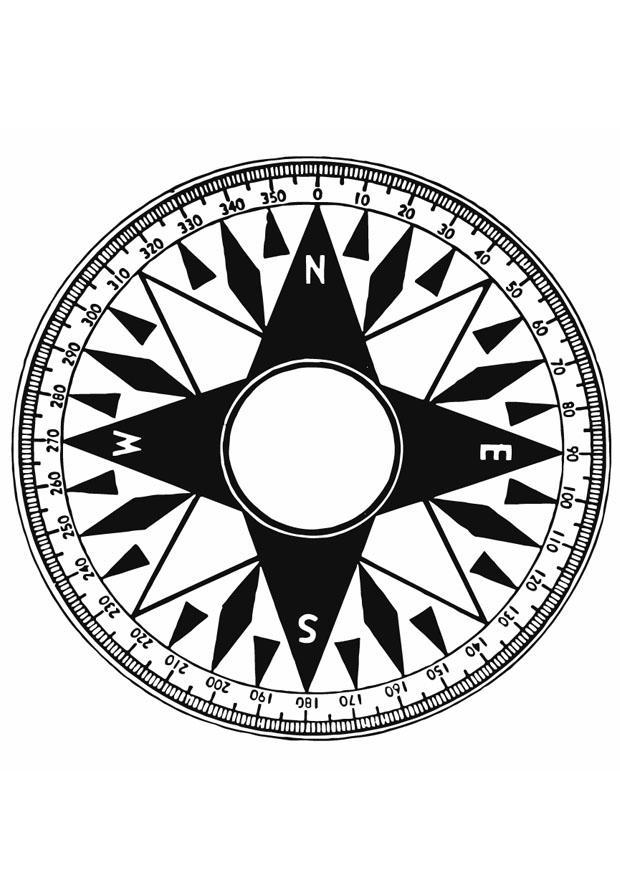 Disegno da colorare bussola cat 12932 for Atlante compass