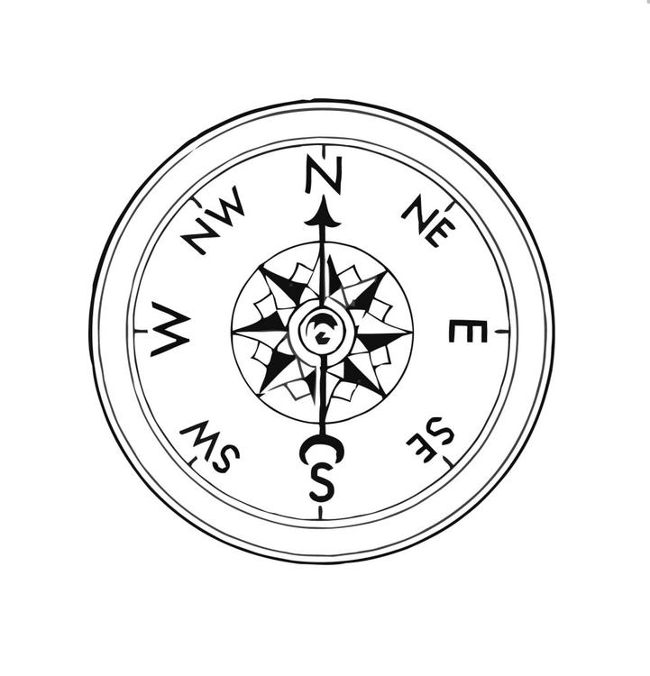 Disegno da colorare bussola cat 16023 for Atlante compass